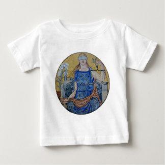 Blind Justice Round Medallion Mosaic Baby T-Shirt