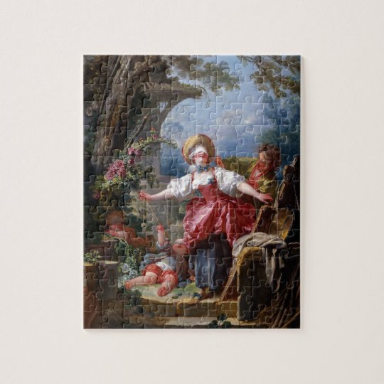 Blind-Mans Bluff by Jean-Honore Fragonard Jigsaw Puzzle