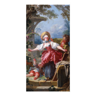 Blind-Mans Bluff by Jean-Honore Fragonard Picture Card