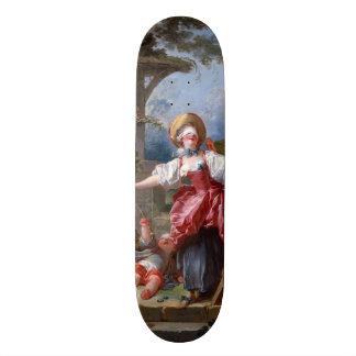 Blind-Man's Bluff by Jean-Honore Fragonard Skate Board Deck