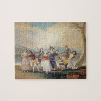 Blind Man's Buff, 1788-9 (tapestry cartoon) (for s Jigsaw Puzzle