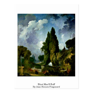 Blind Man'S Buff By Jean-Honore Fragonard Postcard