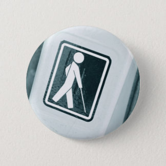 Blind sign design 2 inch round button