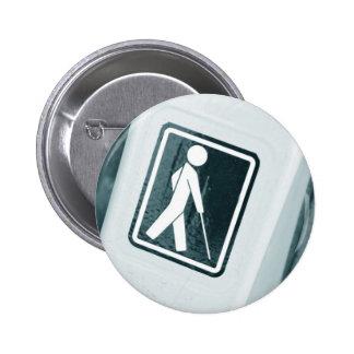 Blind sign design 2 inch round button