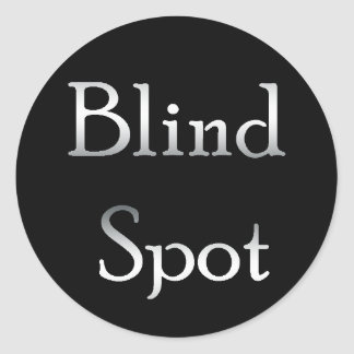 Blind Spot Round Sticker