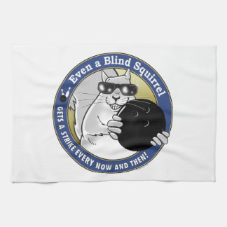 Blind Squirrel Bowling Towel