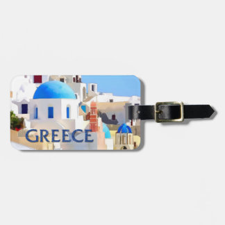 Blinding White Buildings in Greece Luggage Tag