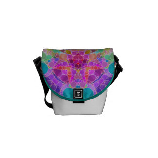 Bling Abstract Pattern Messenger Bag