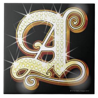 Bling alphabet A Tile