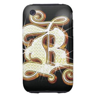 Bling alphabet B iPhone 3 Tough Covers