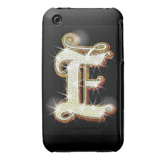 Bling alphabet E iPhone 3 Case-Mate Case