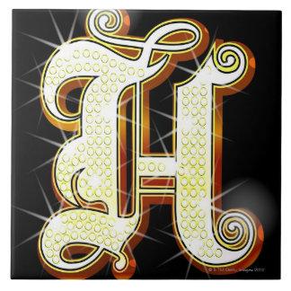Bling alphabet H Tile