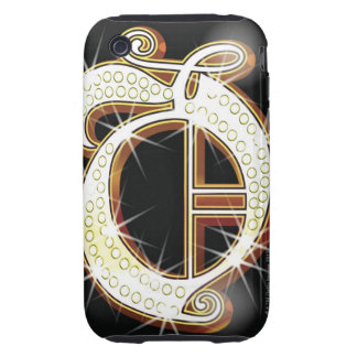 Bling alphabet O iPhone 3 Tough Covers