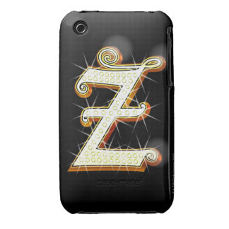 Bling alphabet Z iPhone 3 Covers