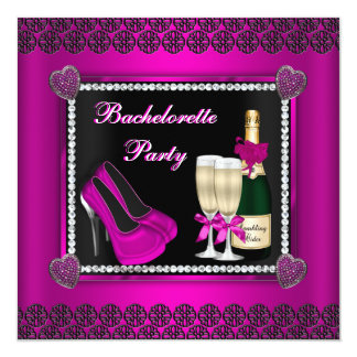 Bling and Bubbly Bachelorette Invite