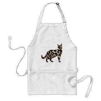 Bling Animal Print Cat Standard Apron
