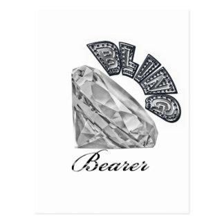 Bling Bearer Wedding Gift Postcard