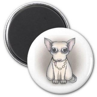 Bling bling dog magnet