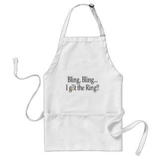 Bling Bling I Got The Ring Standard Apron
