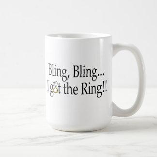 Bling Bling I Got The Ring Wedding Engagement Basic White Mug