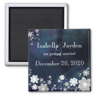 Bling Bling Winter Wedding Save the Date Magnet