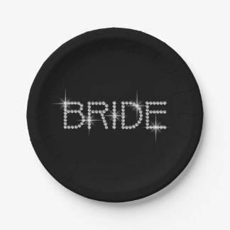 Bling BRIDE! 7 Inch Paper Plate