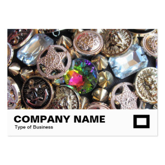 Bling Buttons Business Cards