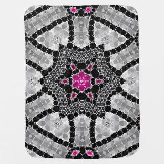 Bling Flower Abstract Stroller Blanket