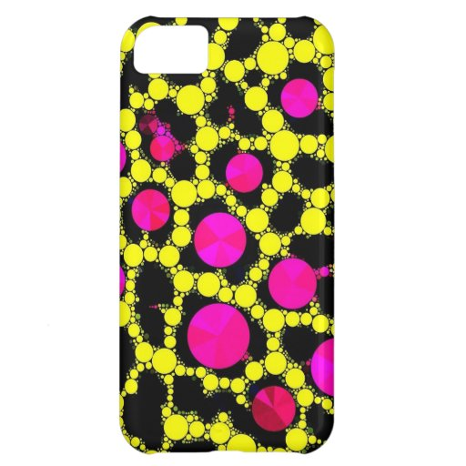 Bling Fluorescent Pink and Black Iphone5c case iPhone 5C Cover