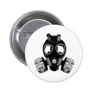 Bling Gas Mask Pinback Button