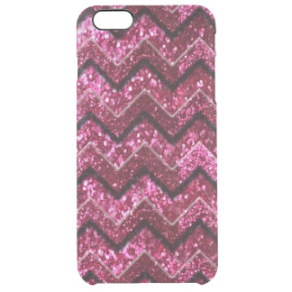 Bling Glam Girly Glitter Sparkle Chevron Clear iPhone 6 Plus Case