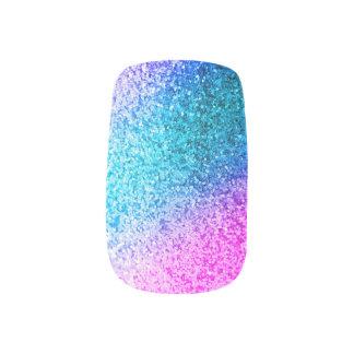 Bling Glitter Girly Pink Purple Minx Nail Art