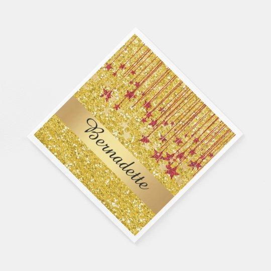 Bling Glitter Image Napkins Disposable Napkin
