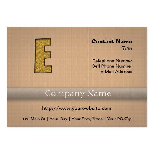Bling Gold E Business Card Template