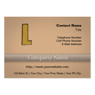 Bling Gold L Large Business Card