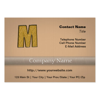 Bling Gold M Large Business Card