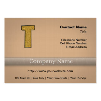 Bling Gold T Large Business Card