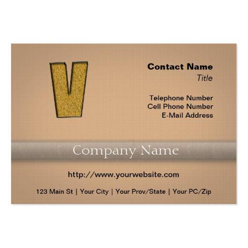 Bling Gold V Business Card
