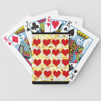 BLING HEARTS BICYCLE PLAYING CARDS