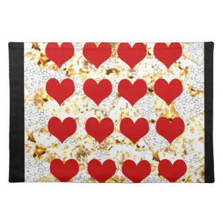 BLING HEARTS PLACEMAT