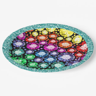 Bling Jewel Images Party Goods 9 Inch Paper Plate