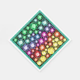 Bling Jewels Image Napkins Paper Napkin