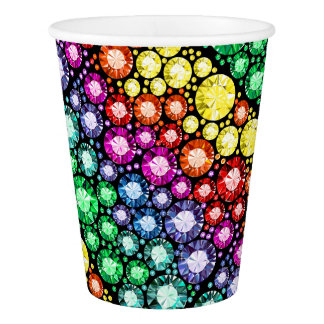 Bling Jewels Image Party Paper Cups