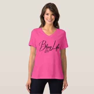 Bling Life Bella+Canvas Relaxed Fit V-Neck T-Shirt