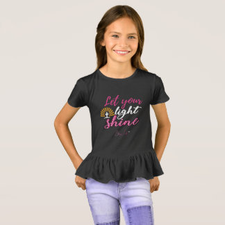 Bling Life Let Your Light Shine Girls Shirt