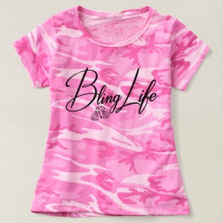 Bling Life Women's Camouflage T-Shirt