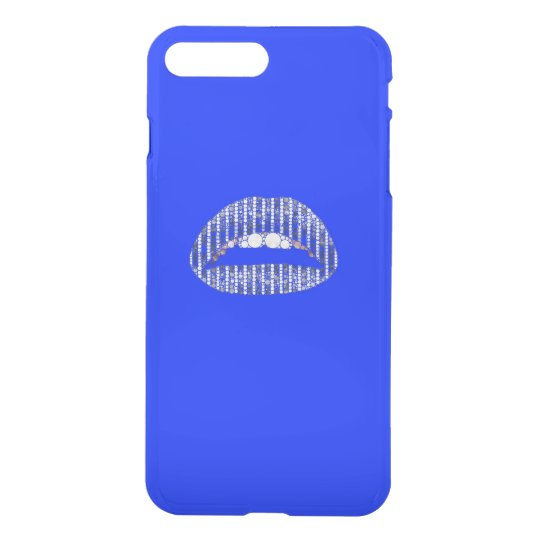 Bling Lips Blue iPhone 7 Plus Case