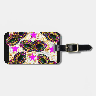 BLING MARDI GRAS LUGGAGE TAG