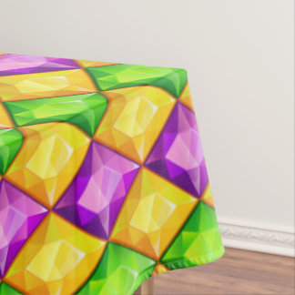 Bling Mardi Gras Table Cover Tablecloth