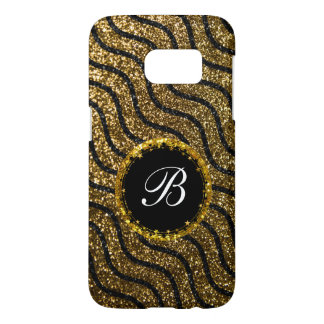 Bling Monogram Glitter Style Samsung Galaxy S7 Case